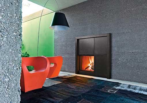 Cheminée à bois MCZ Forma 75W habillage Matisse